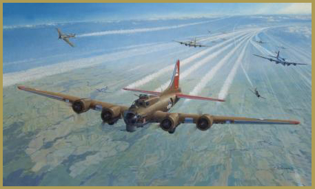 B-17 airplane art