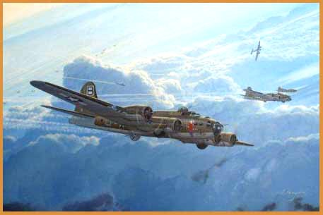 B-17 aviation art by Steve Heyen