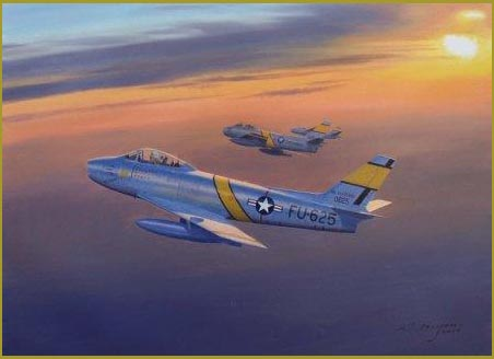 F-86 painting 334th FIS