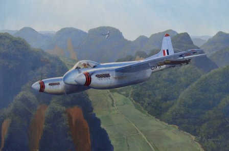 De havilland Hornet aviation painting