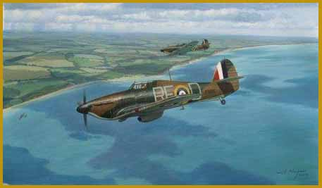 Hawker Hurricane painting