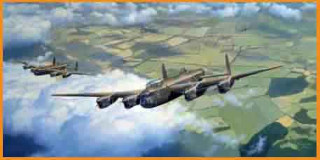 Lancaster aviation art