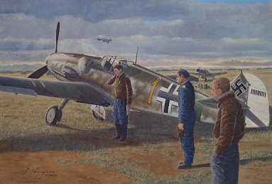 Me109G painting