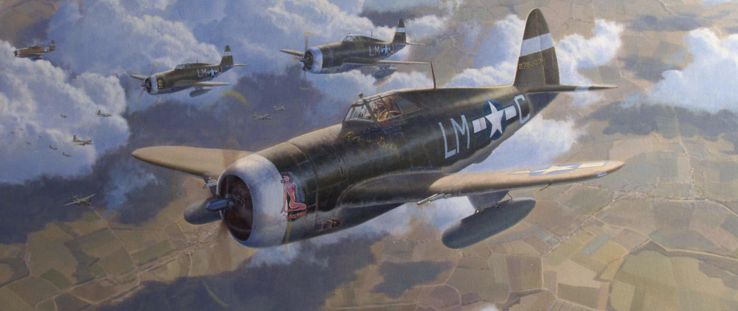 P-47 Thunderbolt aviation art