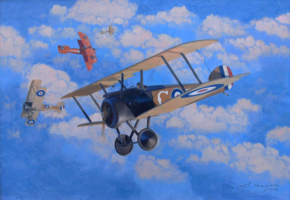 Sopwith Camel painting