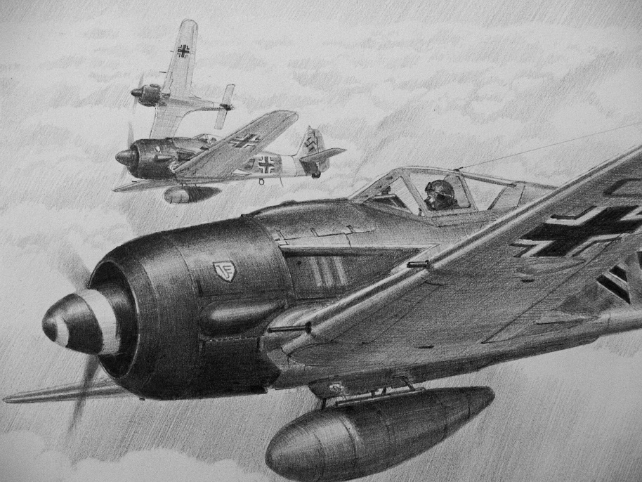 Pencil aviation drawing