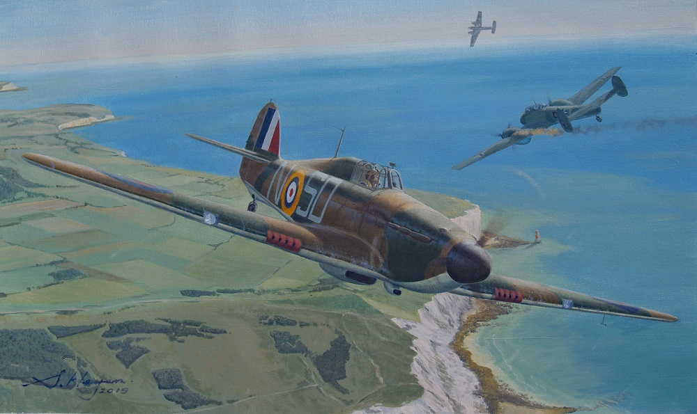 Hawker hurricane aviation art