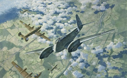 Me410 aviation art