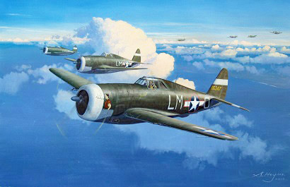 P-47 aviation art