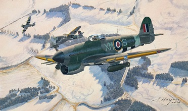 Hawker Typhoon painting