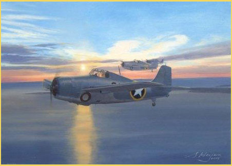 Grumman Wildcat aviation art